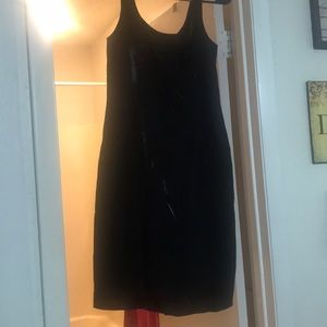 Shiny little black dress